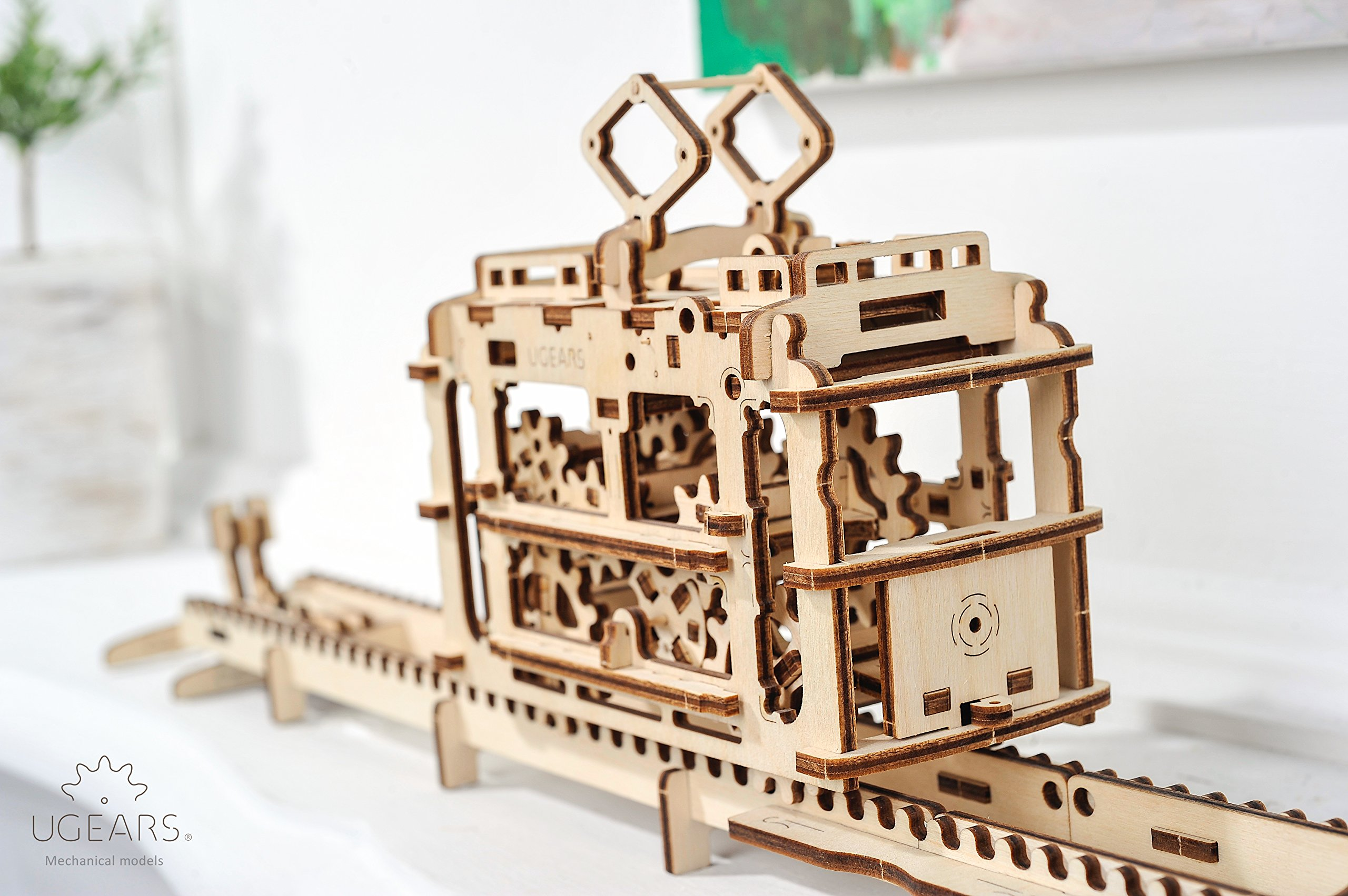 UGears Wooden Puzzle, 3D Mechanical Craft Set, Christmas and Thanksgiving Gift, Engineering Adult Game, DIY Brain Teaser