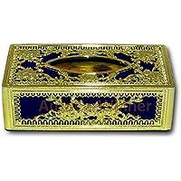 AUTO CAR WINNER Golden-Blue Tissue Box/Dispenser for Car,Home & Office