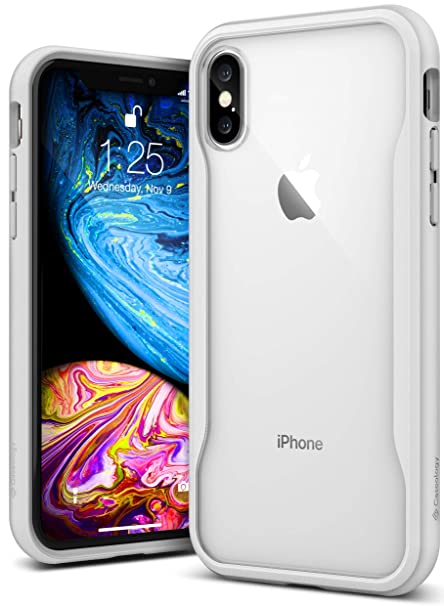 new style 7e0f2 b5247 Caseology Coastline for iPhone Xs Case (2018) / iPhone X Case (2017) - Slim  & Transparent - White Gray