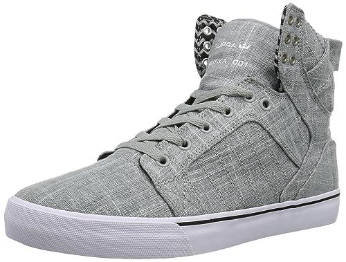 quality design c596f 9c5ca Supra Skytop Grey White Shoe Gray Grau (GREY - WHITE GYW) Size