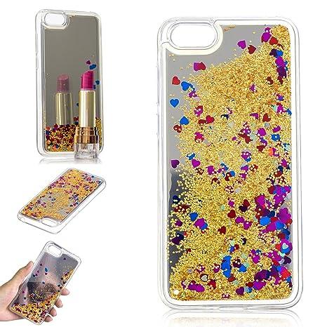 in vendita 4017b 50342 HereMore Cover Honor 7S/ Huawei Y5 2018 Liquido Glitter con Specchio,  Custodia Rigida Brillantini Quicksand Case Silicone Protettiva Anti-Scratch  ...