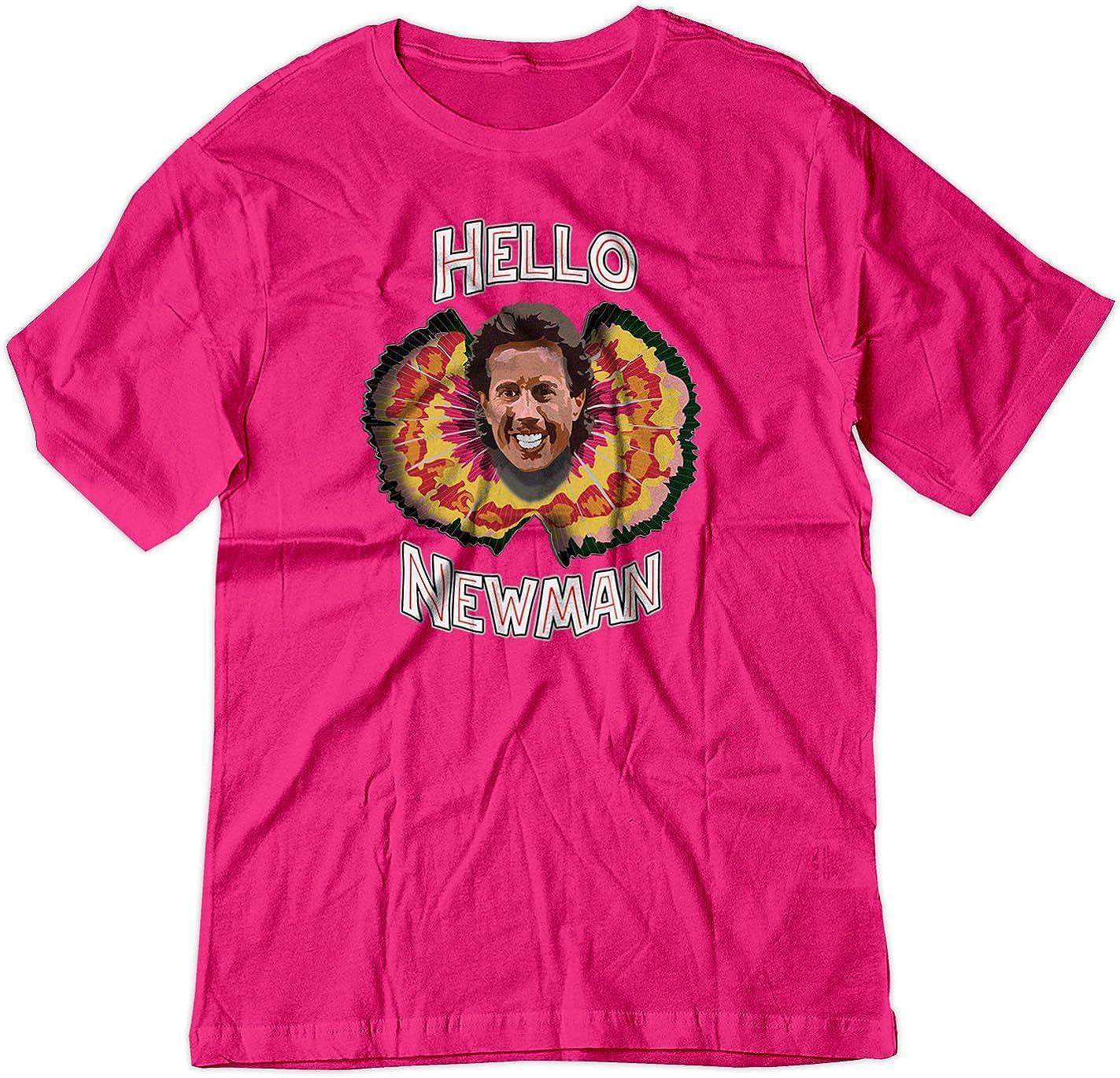 BSW - Camiseta de Manga Corta con diseño de Hello Newman Seinfeld Jurassic Park - Rojo - XS: Amazon.es: Ropa y accesorios