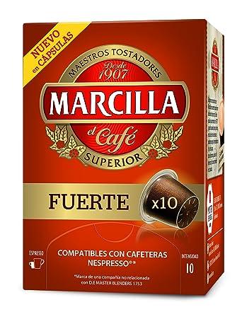 Marcilla - Cápsulas superior de café Fuerte - 10 Cápsulas - [pack de 4]