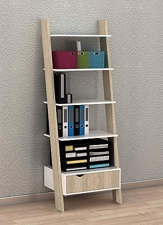 Generic - Cajón con estantes y Escalera de Almacenamiento para Pared con estantería en U: Amazon.es: Electrónica