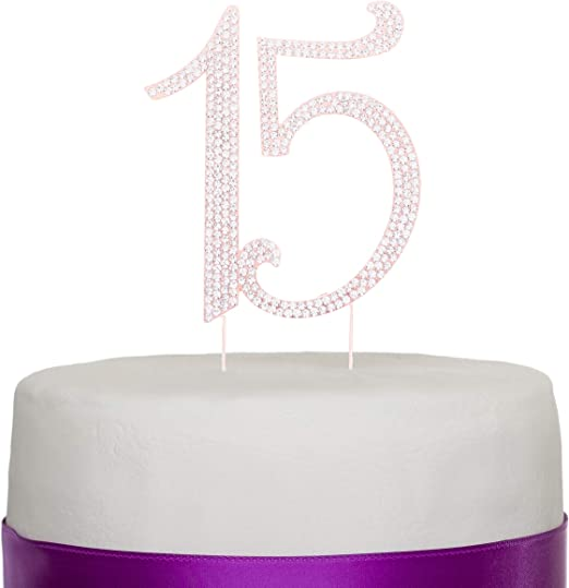 Amazon.com: Ella Celebration - Decoración para tarta de 15 ...