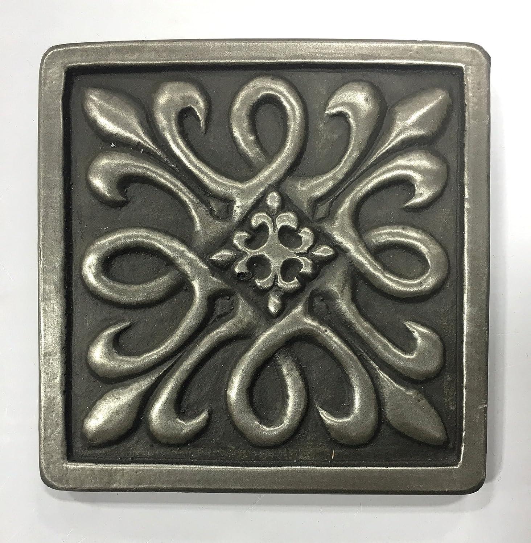 - Home Décor Tile Art Home Décor Fleur De Lis 4x4 Gold Resin