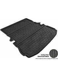 3D MAXpider Cargo Custom Fit All-Weather Floor Mat for Select Ford Explorer Models - Kagu Rubber (Black)