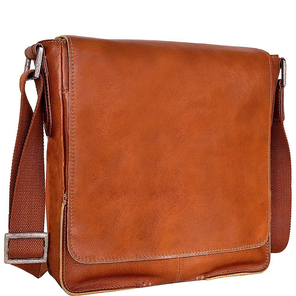 HIDESIGN Fred Leather Business Laptop Messenger Cross body Bag, Tan