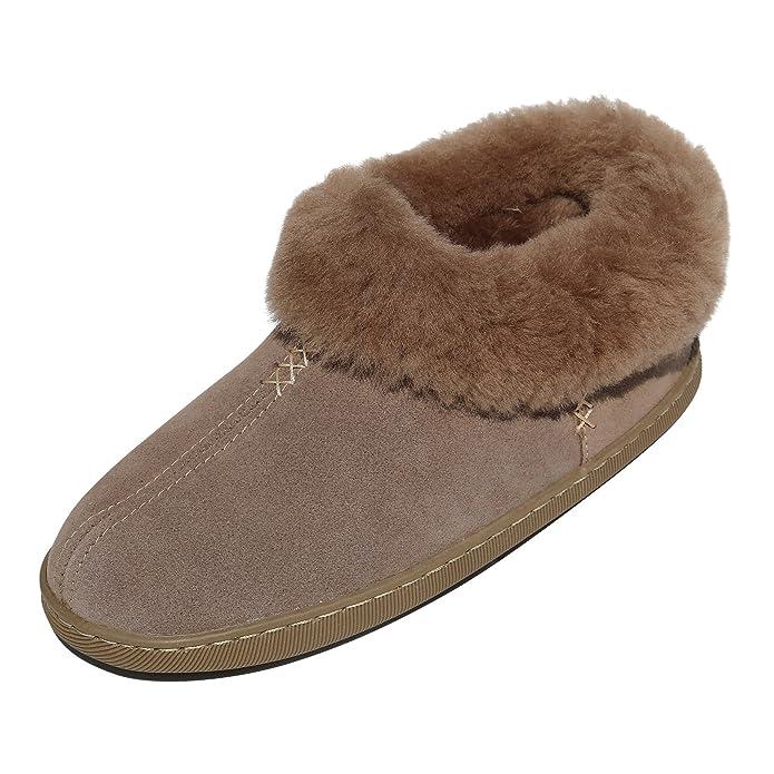 Hollert German Leather Fashion Lammfell Hausschuhe - Alaska Fellschuhe Hüttenschuhe Schaffell Echtleder Damen Herren Size EUR 42 FYIqI9