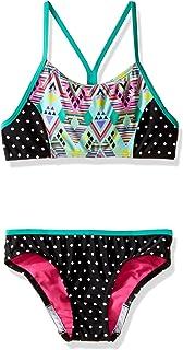 Speedo Big Girls Diamond Geo Splice Two Piece Swimsuit