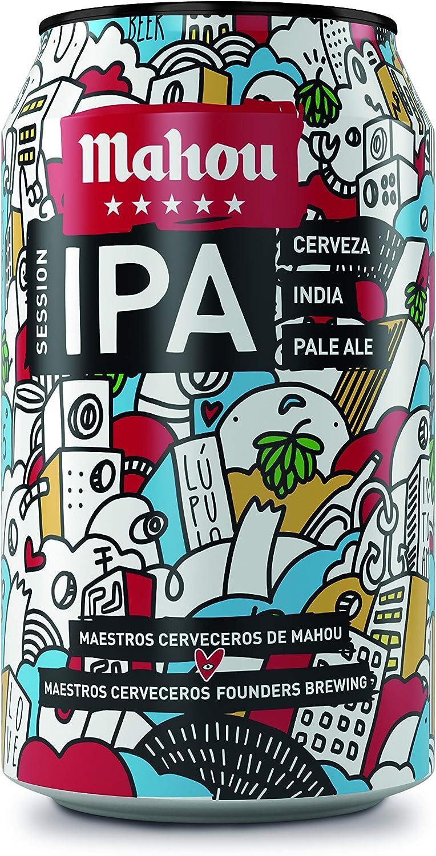 Mahou - 5 Estrellas Session IPA Cerveza Dorada Indian Pale Ale, 4.5% de Volumen de Alcohol - Lata de 33 cl: Amazon.es: Alimentación y bebidas