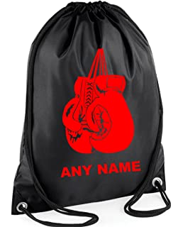 Mayzie Designs Personalised Boxing Gloves Drawstring PE Gym Bag  Choice of  colours  3030cd32bf