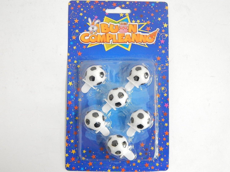 6 Velas para cumpleaños - Balón de fútbol.: Amazon.es: Hogar