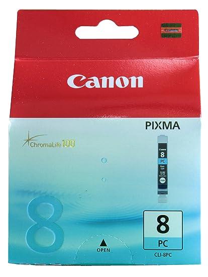 Canon CLI-8 PC Cartucho de tinta original Foto Cian para Impresora de Inyeccion de tinta Pixma iP6600D-iP6700D-PRO9000-PRO9000MarkII