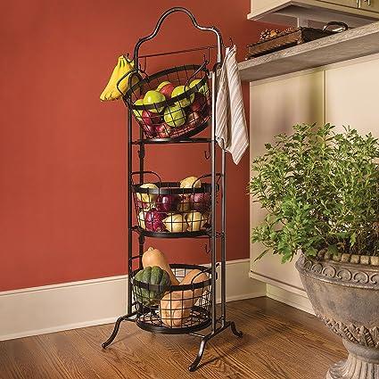 3 Tier Floor Stand Bushel Basket