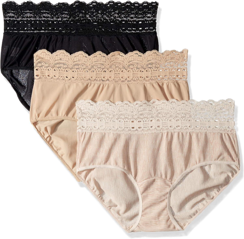 Olga Womens Secret Hugs 3 Pack Hipster Panty Hipster Panties