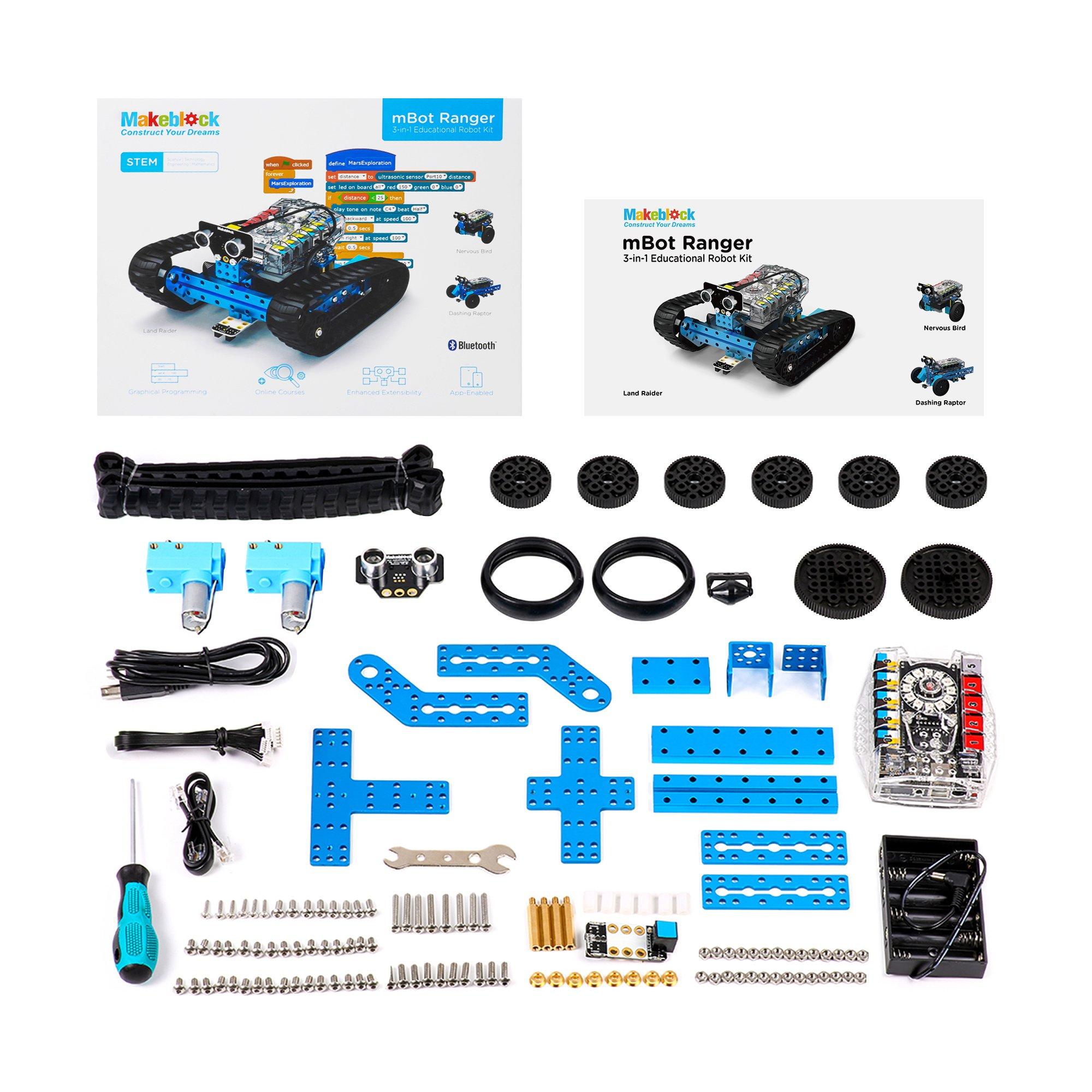 Makeblock Programmable mBot Ranger Robot Kit, STEM Educational Engineering Design & Build 3 in 1 Programmable Robotic System Kit - Ages 10+ by Makeblock (Image #6)