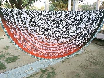 La India Hippie HANDICRAFTOFPINCITY edorff Mandala tapiz indio Roundie redonda manta toalla playa de manta estera de Yoga tapices: Amazon.es: Hogar