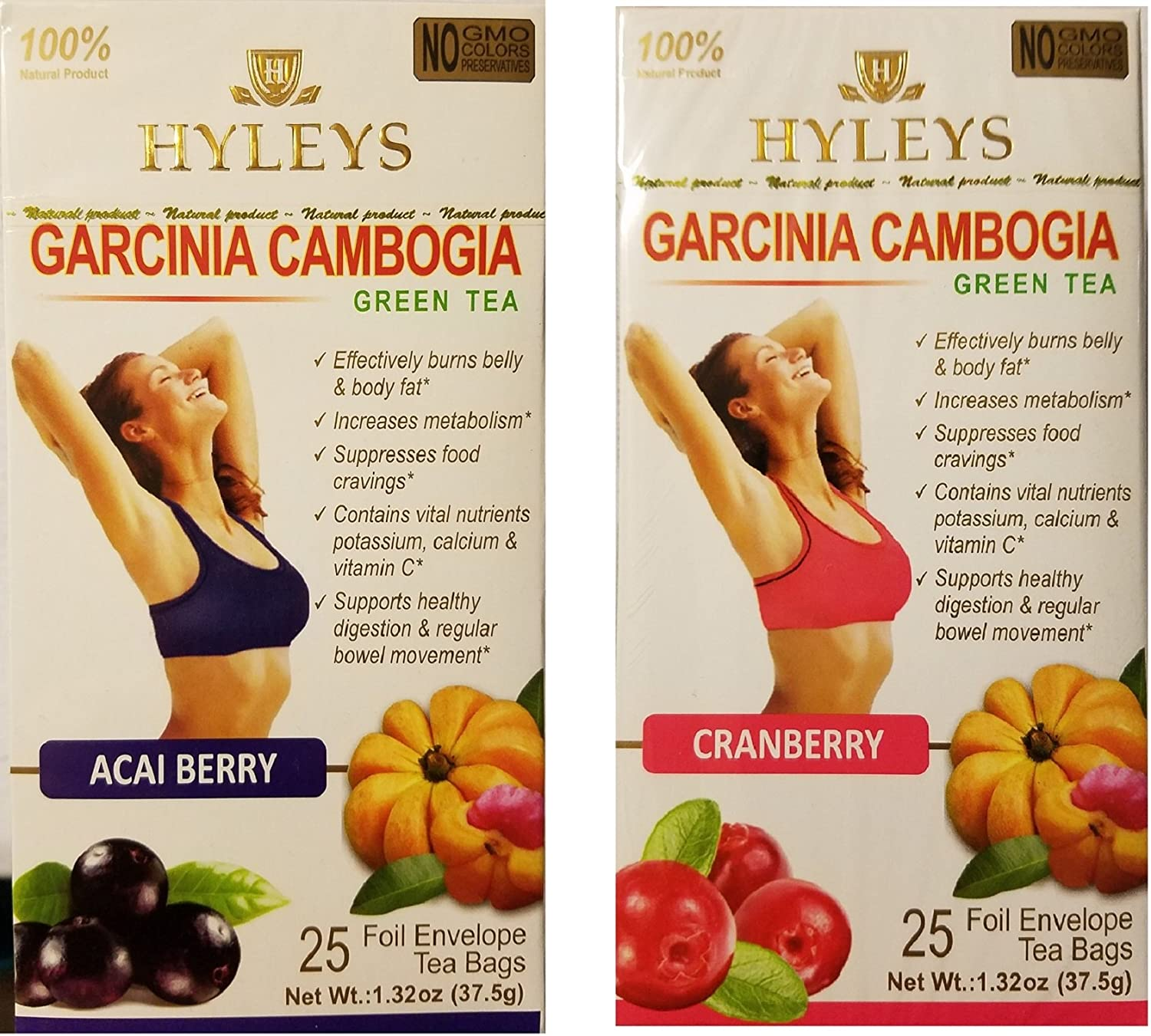 Amazon Com Hyleys Garcinia Cambogia Green Tea Assorted Flavor