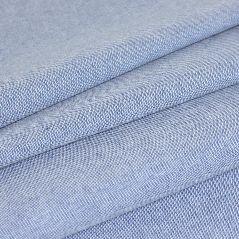 Chambray Plain Baby Pink Denim Look Cotton Blend Fabric Dressmaking