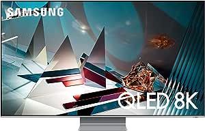 تليفزيون سمارت كيو ال اي دي 75 بوصة 8K الترا اتش دي مع ريسيفر مدمج من سامسونج QA75Q800TAUXEG - فضي اكليبس