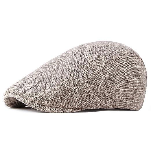 65f9f3bac LANLEO Men's Newsboy Hat Cotton Gatsby Flat Ivy Driving Golf Cap