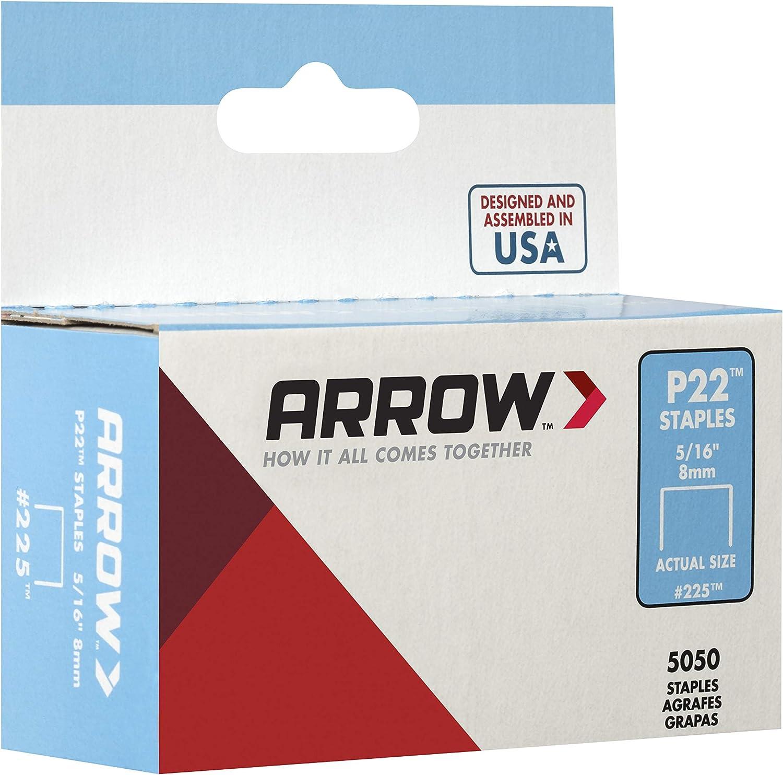 Cuadro de p22 5000 grapas de 6 mm Arrow 160656