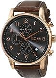 Hugo Boss Casual Watch Analog Display Quartz For Men 1513496, Brown Band