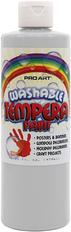 Pro Art 300012 Liquid Washable Tempera Paint, 16 Oz, White Notions - CA PRO-4101-16