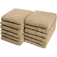 """Car Care Essentials Wash Dry and Detail Towels, Set of 12, Beige, 100% Ring Spun Cotton, 16"""" X 27"""", 4.25 lbs. per dz…"""