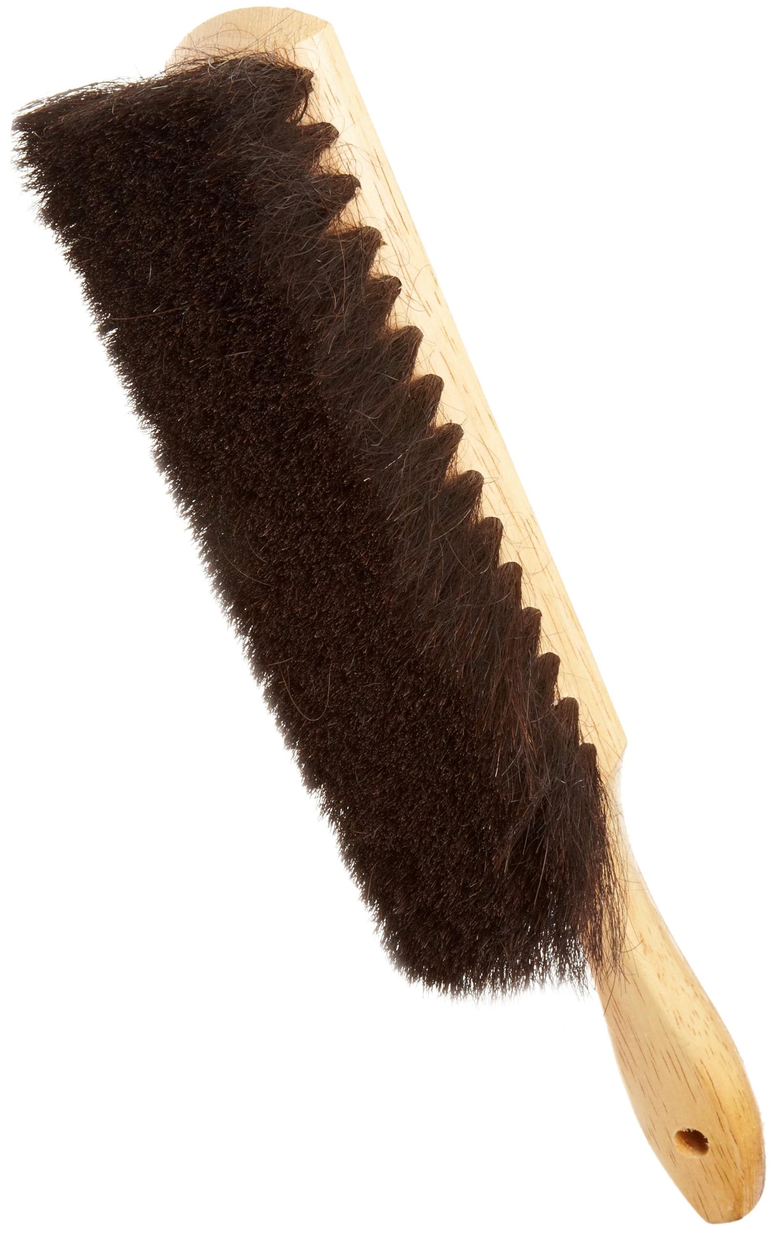 Weiler 44003 Horsehair Counter Duster with Wood Handle, Horsehair Fill, 2-1/2'' Head Width, 8'' Overall Length, Natural