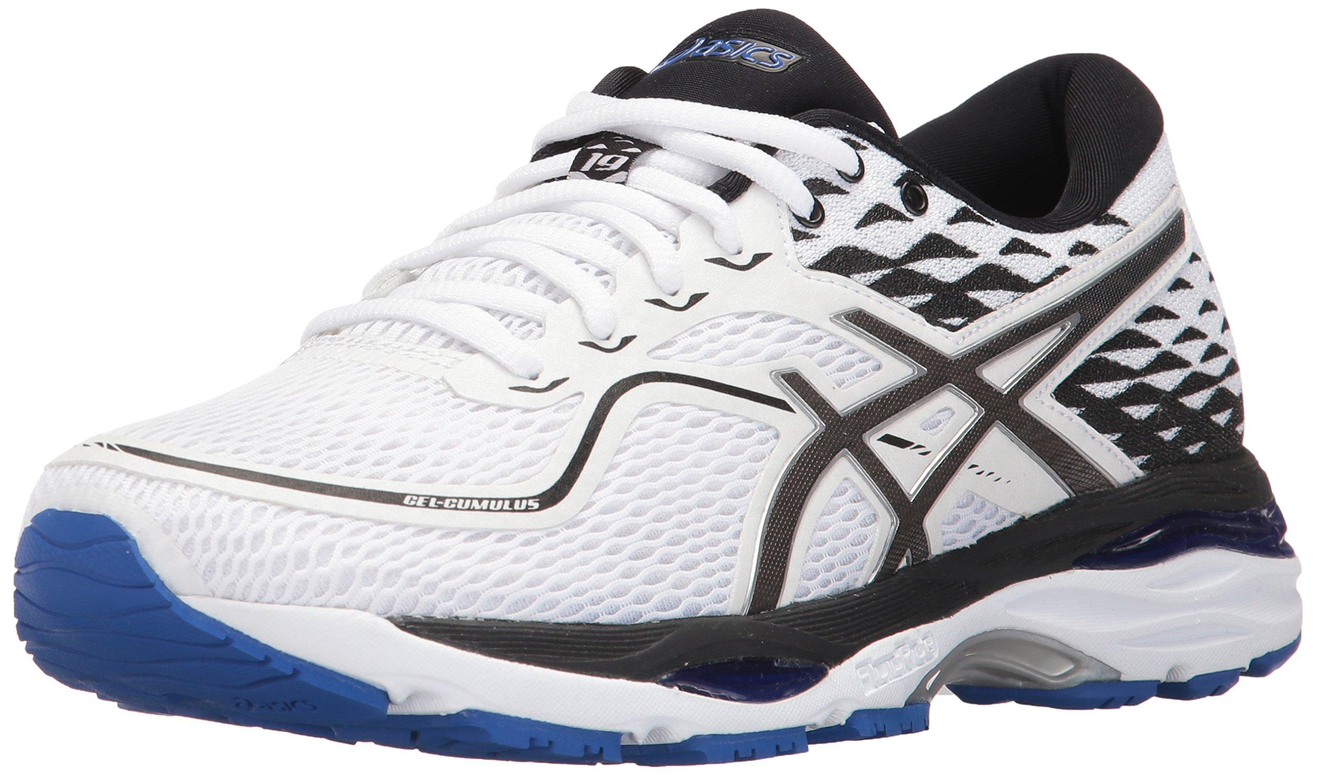 ASICS Women's Gel-Cumulus 19 Running Shoe, White/Black/Blue Purple, 7.5 Medium US