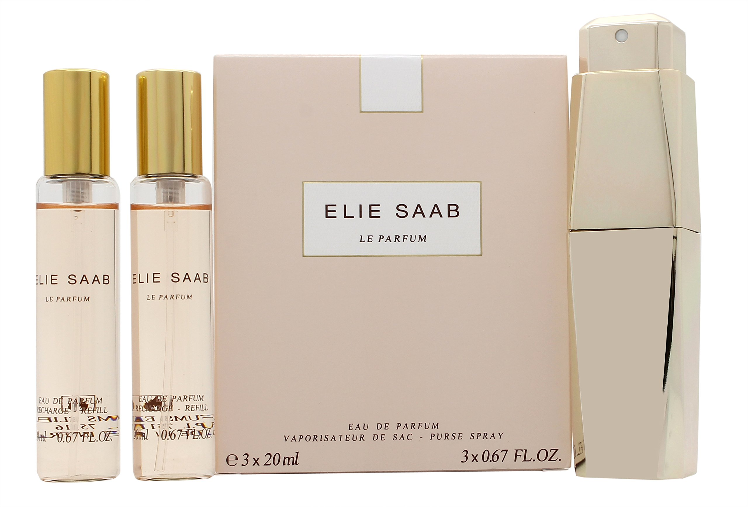 Elie Saab 3 Piece Le Parfum Purse Refill Spray Set for Women