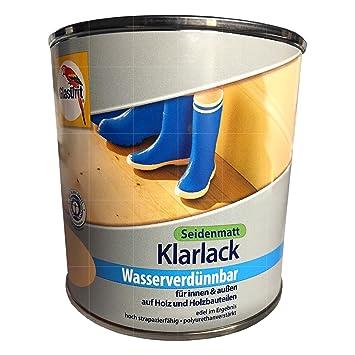 Glasurit Klarlack Wasserverdunnbar 375 Ml Farblos Seidenmatt Innen