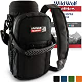Wild Wolf Outfitters - #1 Best Water Bottle Holder for 40 oz Bottles - Carry, Protect and Insulate Your Flask with This Military Grade Carrier w/ 2 Pockets and an Adjustable Padded Shoulder Strap.