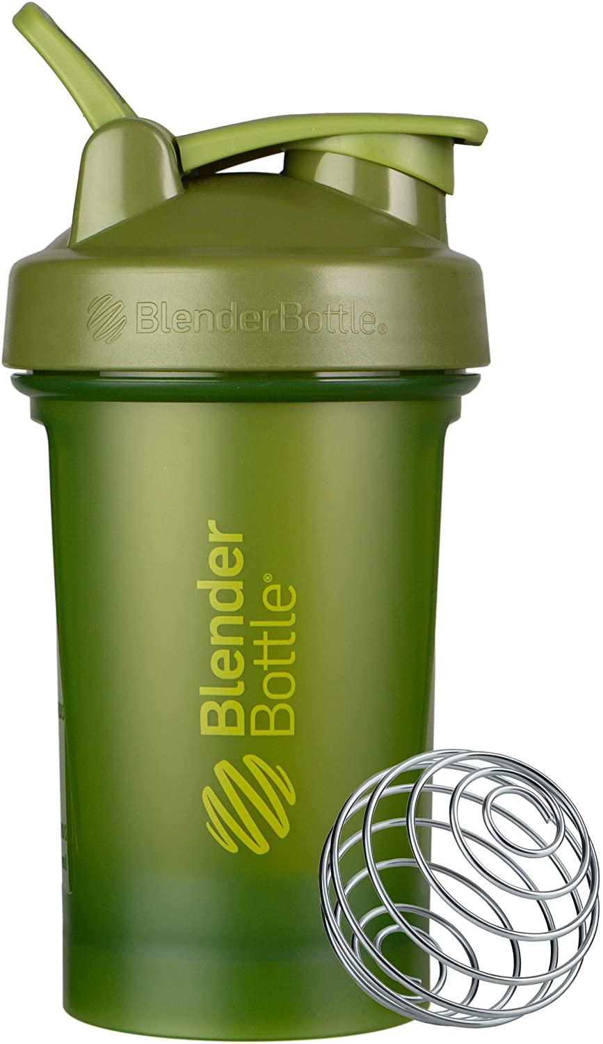 BlenderBottle Classic V2 Shaker Bottle, 20-Ounce, Moss Green