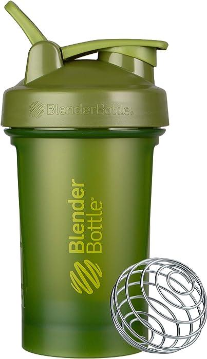 BlenderBottle Classic V2 Shaker Bottle, 20-Ounce, Moss Green