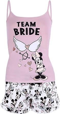 Pigiama Bianco Rosa Minnie Disney