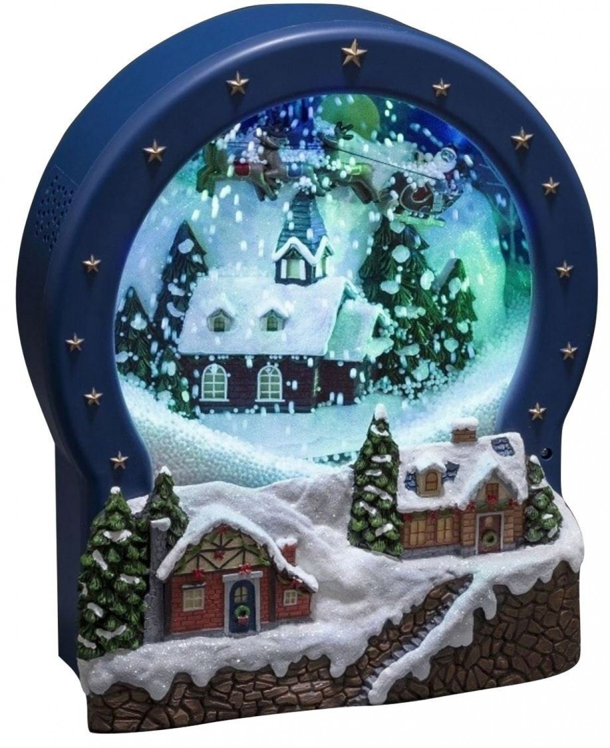 Konstsmide Musical Snow Globe Christmas Scene : Blowing Snow : LED : Mains or Battery : 3438-000 [Energy Class A] Konstsmide @ WOWOOO