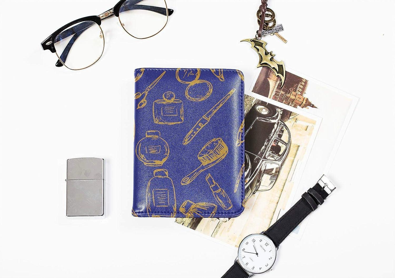 Passport Duvet Cover Fashion Girl Lip Balm Lipstick Mens Passport Cover Multi Purpose Print Passport Case Waterproof Travel Wallets For Unisex 5.51x4.37 Inch