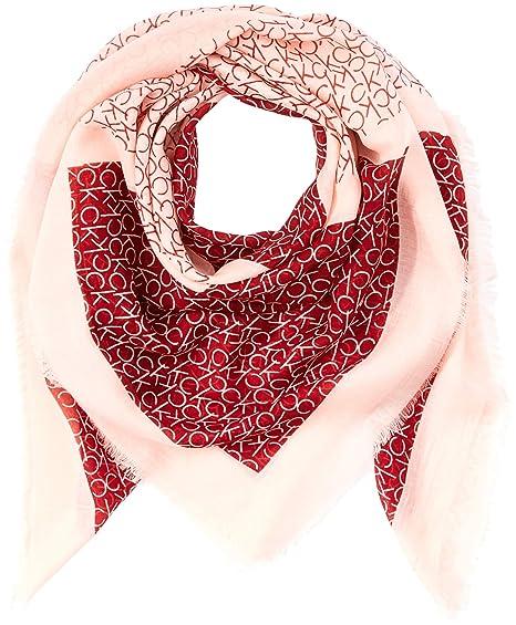 Calvin Klein CK Allover Check Scarf, Echarpe Femme, Rouge (Red Rock 628) 53c96ae7afd