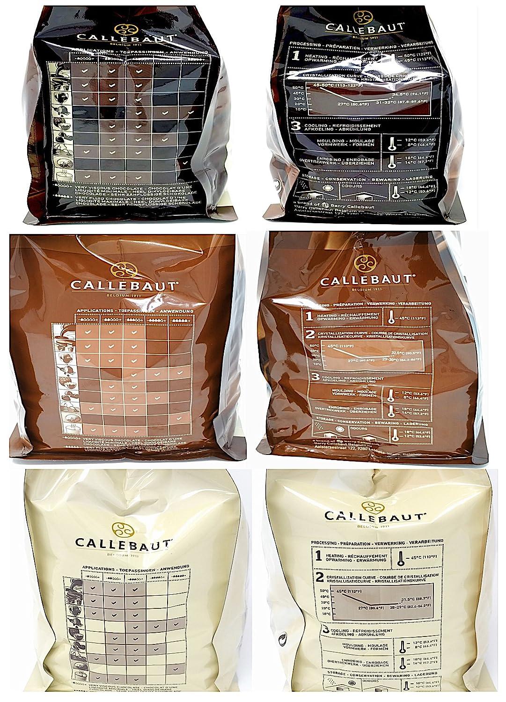 ... Bundle - Cobertura de Chocolate con Leche, Negro & Blanco Belga - Finest Belgian Chocolate (Callets) Lote de 3 x 1kg: Amazon.es: Alimentación y bebidas