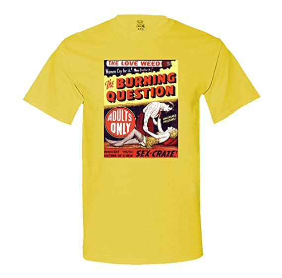 Reefer Madness - Burning Question - Marihuana - Men's T-Shirt XXXX-Large Yellow
