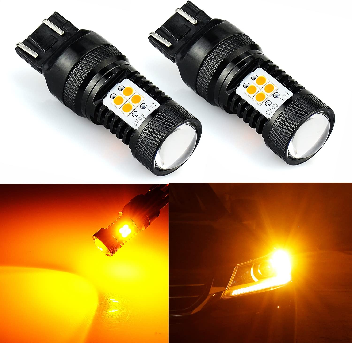 2x LED High Power 3157 4157 78 SMD Front Turn Signal Light Lamps for Chevrolet