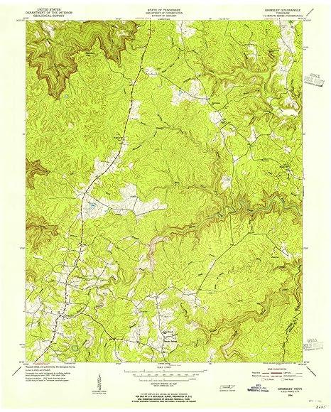 Amazon.com : YellowMaps Grimsley TN topo map, 1:24000 Scale, 7.5 X ...
