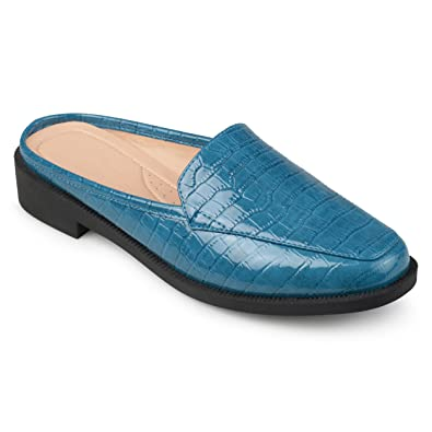 aabbc17e408c Journee Collection Womens Croc Pattern Square Toe Comfort-Sole Slide Mules  Blue