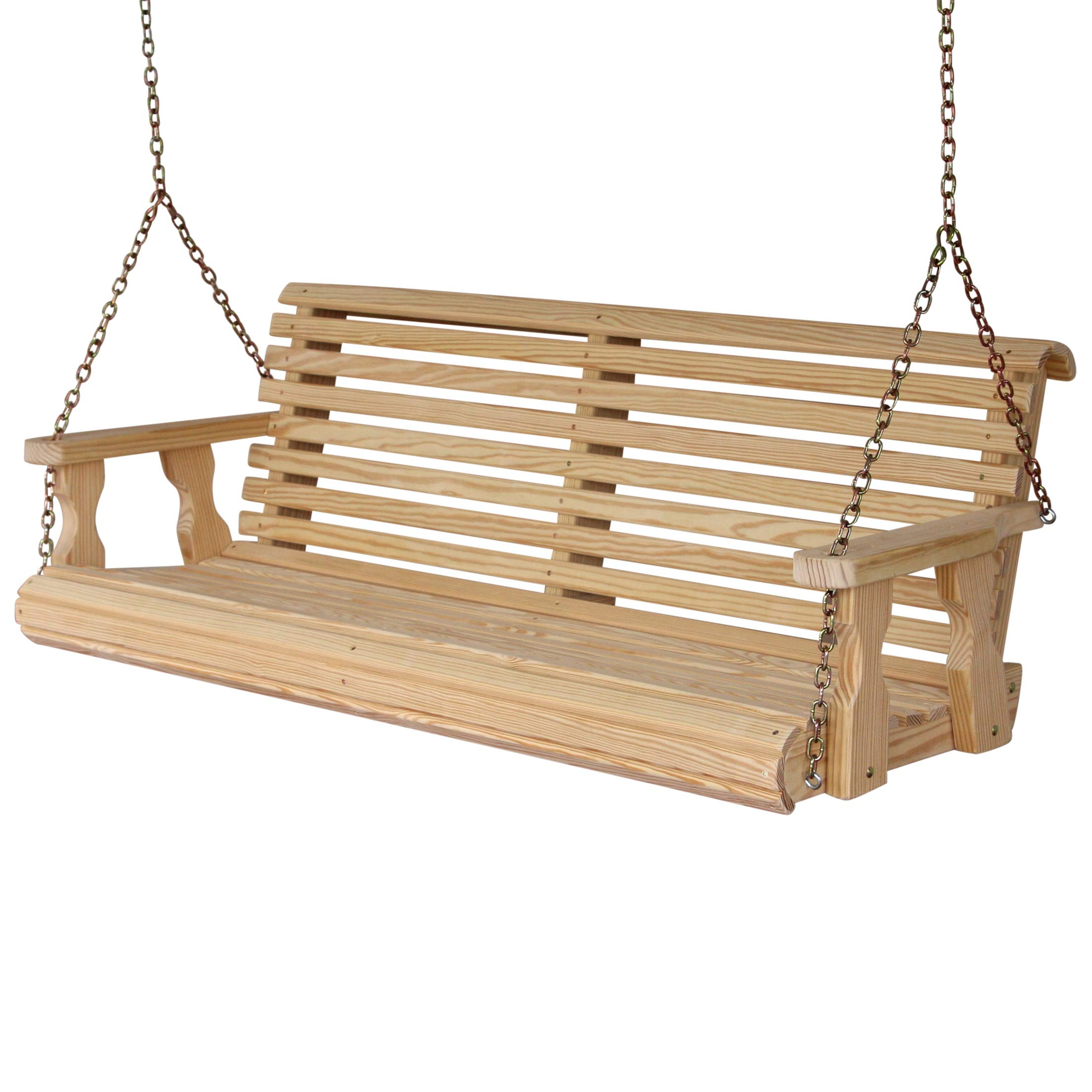 CAF Amish Heavy Duty 800 Lb Roll Back 5ft. Treated Porch Swing by CAF