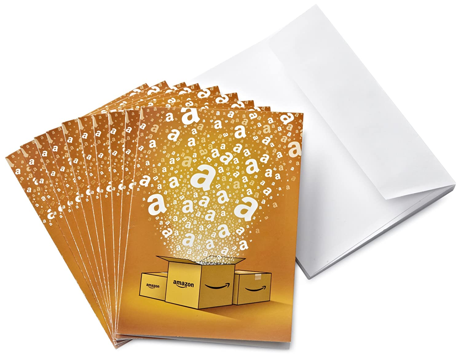 Amazon.co.uk Gift Cards - 10-Pack Greeting Cards - FREE One-Day Delivery Amazon EU S.à.r.l.