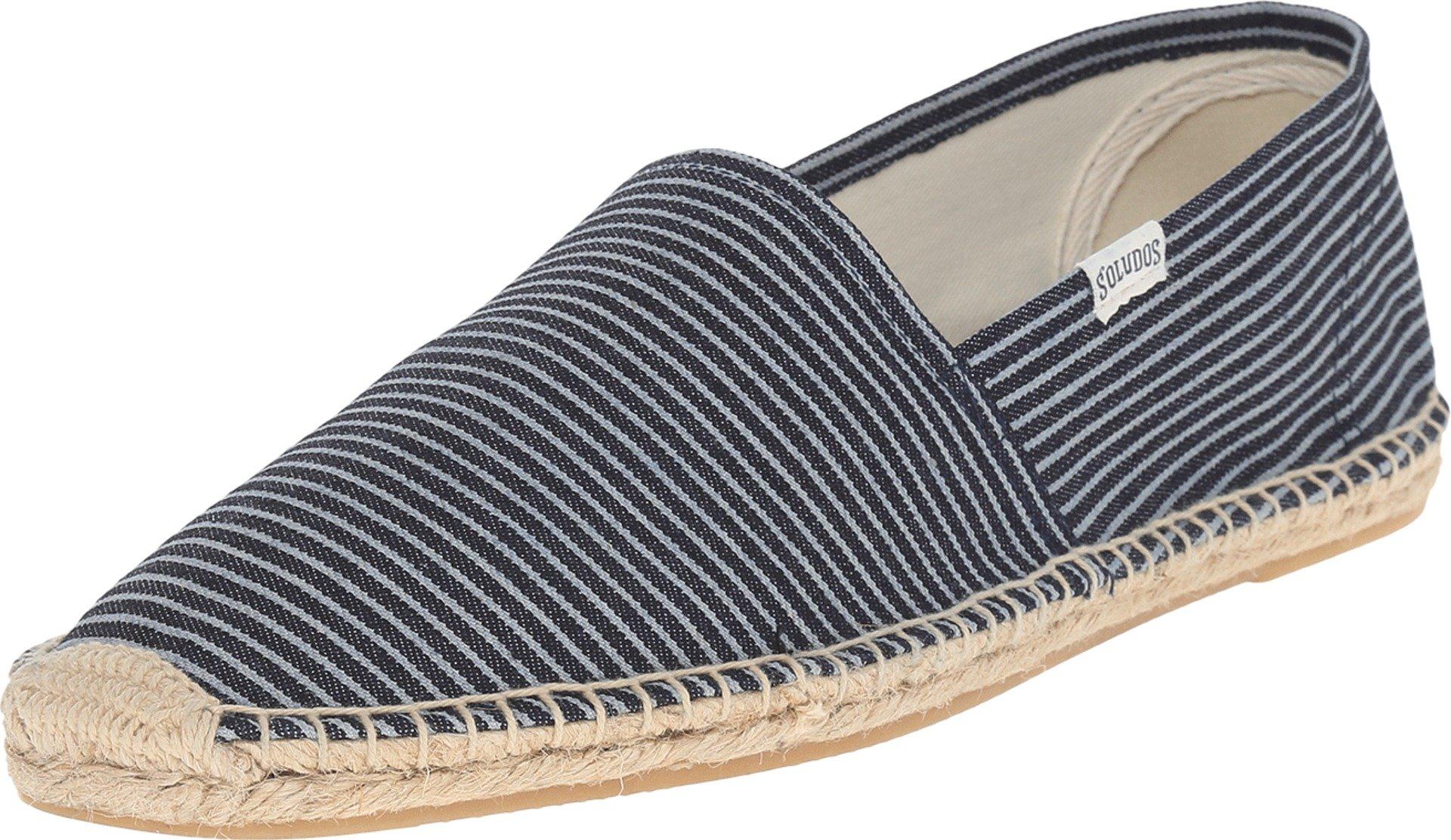 Soludos Dali Stripe Men's Original Classic Sandal, Blue/White, 11.5 D US