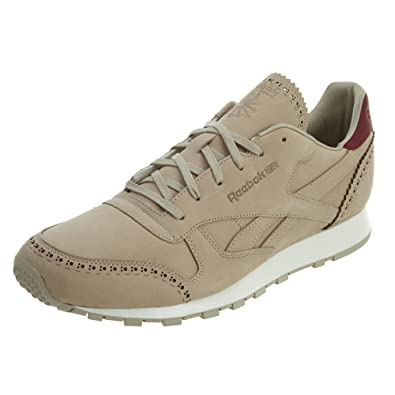 522c94cf9f2de Reebok Classic Leather Lux (Horween Leather) Mens in Sand Stone Merlot Chalk